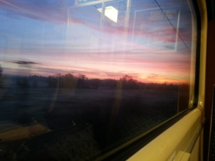 Norwich-London sunrise